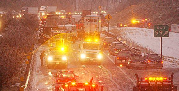 Another image of the pileup on Afton